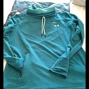 Under armour womens XL turquoise turtleneck pocket